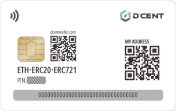 dcent card wallet back design